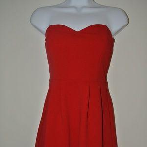 Red Strapless Skater Dress